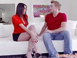 Spex beauty footworshiped and rimmed