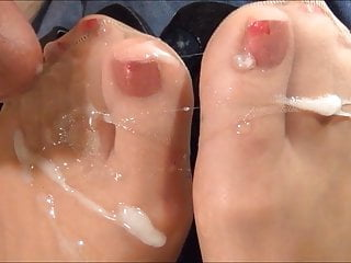 Suntan RHT Nylon Stocking Footjob-3 point of views