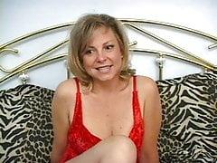 Cute blonde milf Katie