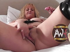 British bareback MILF slut squirts as gangbanged by 6 guys