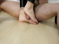 Black Foot Footjob