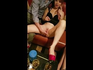 Interracial Asian Squirting video: amateur asian bar squirt