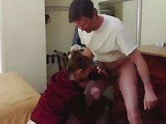 Couple amateur ballbusting