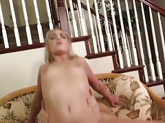 WANKZ- Blonde Teen Ally Brooks Pounded on Couch