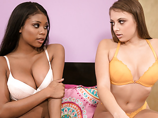 Black Big Tits Big Ass video: Booty College Girl Tricking Her Friend Into Lesbian Sex