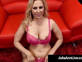 Blonde Blowjob Big Tits video: Beautiful Busty Milf Julia Ann Gives Hot Blowjob & Handjob!
