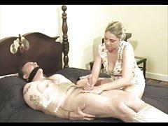Bondage Handjob Blowjob z Orgasmu