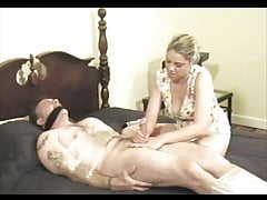 Bondage Handjob Blowjob wykonane Orgazm