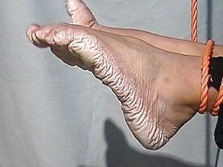 Bianca's wet pruney feet