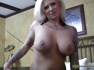 Femdom Blowjob Cumshot video: Cover me in your cum and then lick me clean CEI