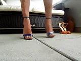 showing off her heels