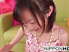 Skinny Japanese Cutie Enjoys Some Labia Play