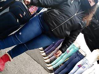 Closeups Hidden Cams video: Fat spanish pawg phat ass in them jeans, pt.2