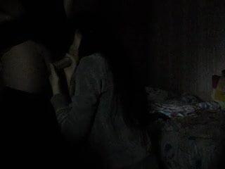 Deepthroat blowjob  in the dark