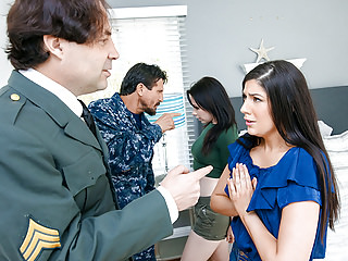 Hardcore Brunettes Small Tits vid: DaughterSwap - Military Dads Love Swapping Daughters