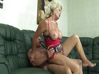 Big Tits Granny Dildo video: Grandma is a greedy slut!
