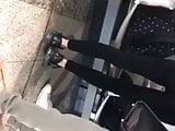 Nice teen in black leggings