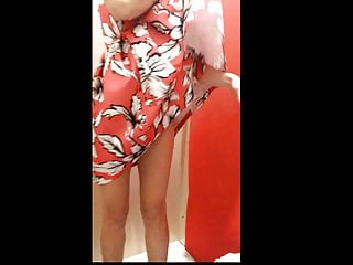 Voyeur Wife Hidden Camera video: wife changes cloths in a dressing room - Part 2