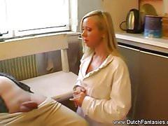 Blonde Dutch Babe Kitchen Fuck Rough Hard Sex