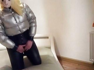 Latex Shemale Hd Videos Shemale Porn Shemale video: Silver Downjacket Kigurumi
