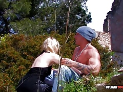 Blonde gets pounded by a big black cock