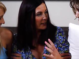 Lesbians Mom video: Mom is persuaded to join daughter and best friend