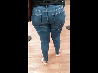Bbw Voyeur Black video: REMASTER: African Thick Juicy Bubble Booty At Wally World