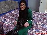Hijab muslim amateur cockrides on camera