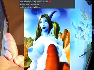 Cum Tribute to Alnael (Draenei World of Warcraft)