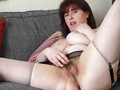 Busty Mature Mommy With Furry Greedy Vagina
