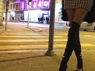 High Heels Pantyhose Nylon video: Bitch Walking The Streets