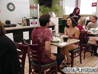 Pornstars Babes video: DigitalPlayground - Biker Babes Monique Alexander Violet
