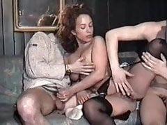 Stocking fuck in disco