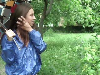 Amateur Tits video: Anna Public 1