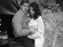 Paar im Freien in bw
