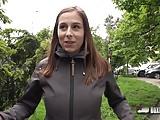 Natural brunette Antonia Sainz loves having sex in public