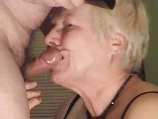 Matures Grannies Granny video: Granny Blowjob