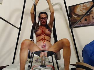 Big Tits Shemale Hd Videos Solo Shemale video: Bobbie tit and clit tied up, fucking a toy
