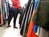 Nice ebony donk in tight jeans