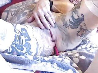 Gothic Granny Dildo video: Crazy Granny