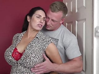 Big Tits Big Ass Milf video: Booty busty mom suck and fuck lucky son