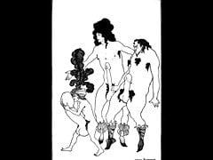 Erotické knižní ilustrace Aubrey Beardsley