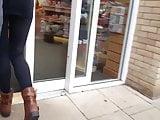 teen in tight leggings spandex