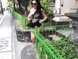 Indonesian Milf SLUT Stripping in Public