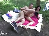 Amateur french brunette hard banged outdoor