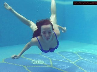 Beach Teen Big Tits video: Lina Mercury hot Russian submerged underwater