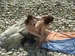 Voyeur sex na pláži