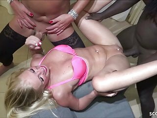 GERMAN MILF KACY KISHA IN EXTREM TS BBC THREESOME FUCK