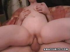 Chubby Amateur Frau hausgemachte verdammte Action