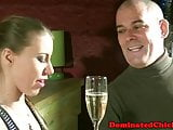 Bound euro sub pissing after POV assfucking